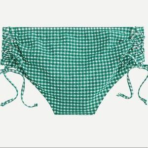 J. Crew NWT High-Waisted Bikini Bottom in Gingham